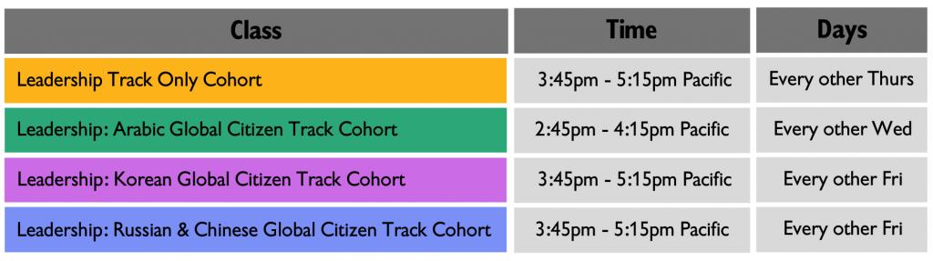 Leadership schedule