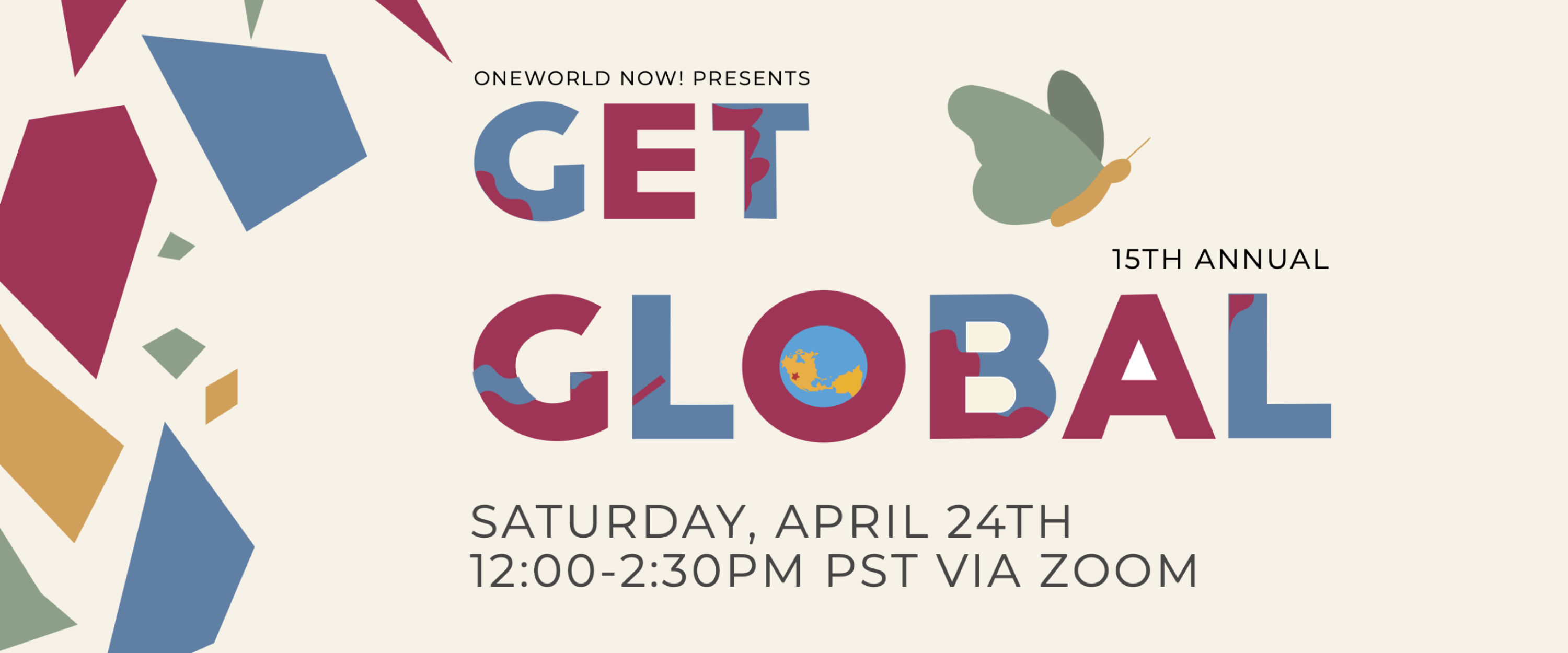 Get Global Virtual Event on Saturday April 24 at 12:00 pm