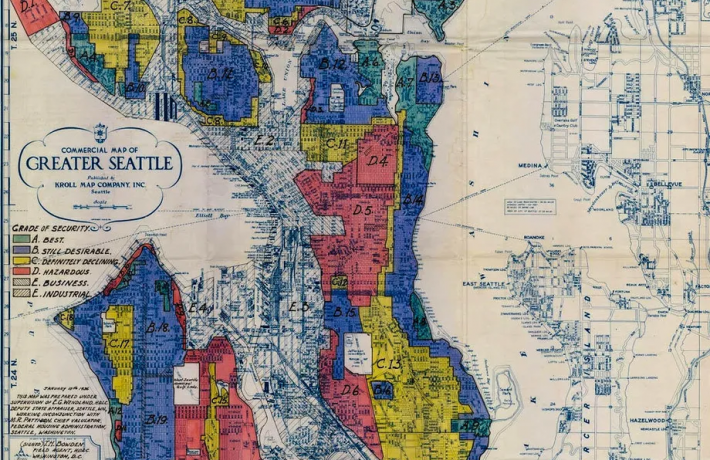 Map of redline districts in Seattle
